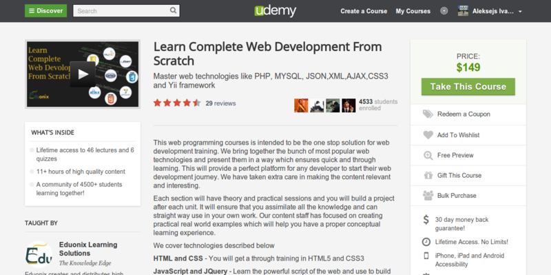 Eduonix: Learn Complete Web Development From Scratch