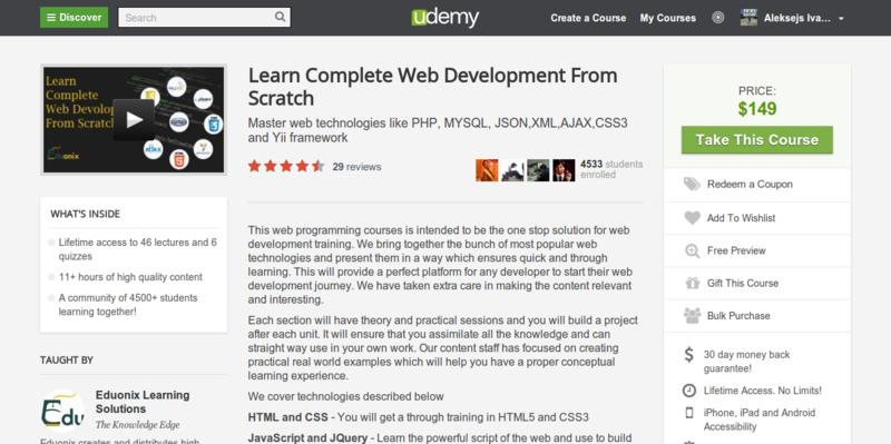 Eduonix: Learn Complete Web Development From Scratch