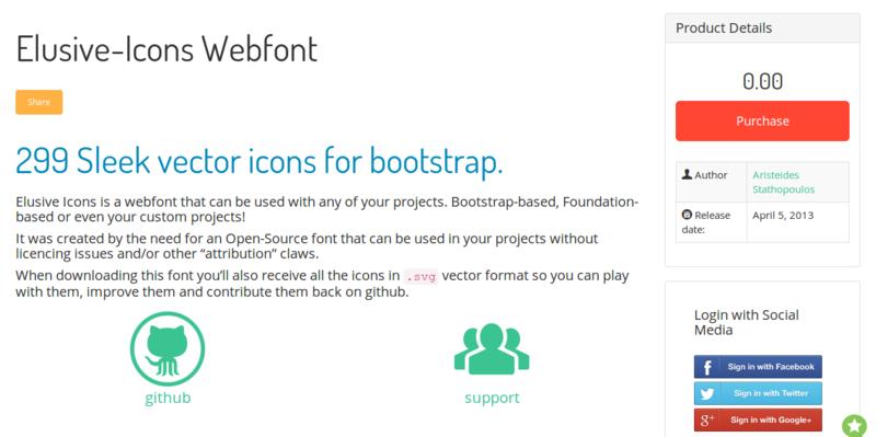 Elusive Icons Webfont shoestrap.org
