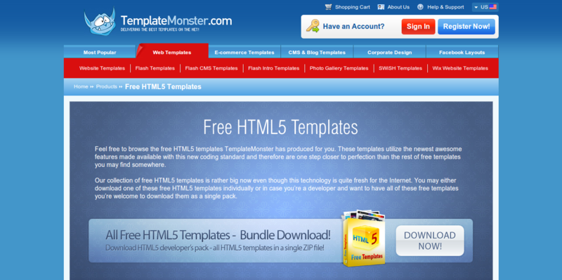 7 Resources For Free Html5 Templates