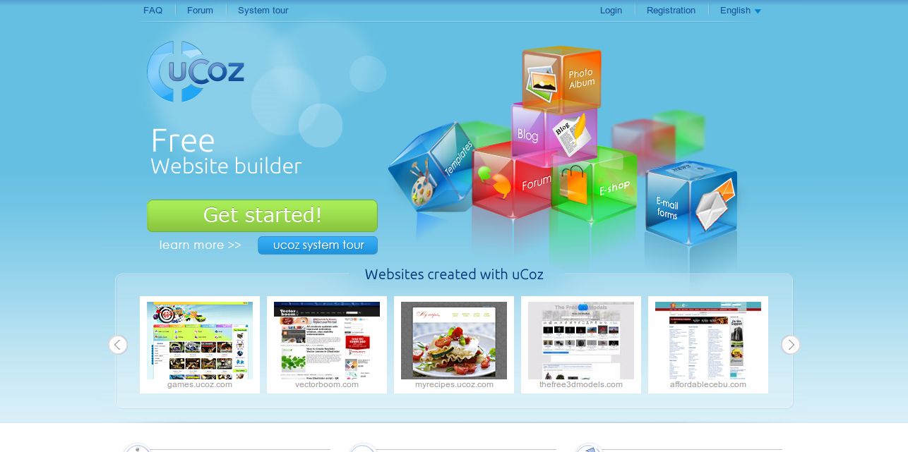 Free Website Builder Make Your Own Website with Free Templates at uCoz.com