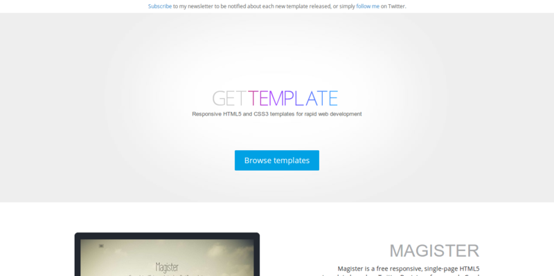 GetTemplate Free HTML5 CSS3 Bootstrap templates