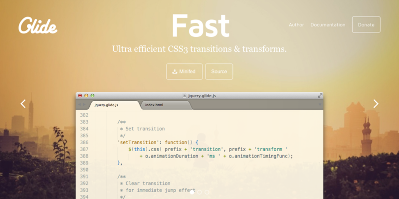 Glide.js Simple Lightweight Fast jQuery Slider