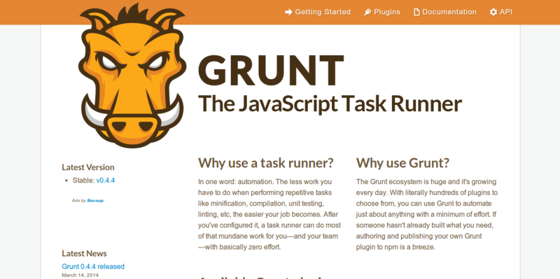 Grunt: Task-based CMD Build Tool for JavaScript Projects