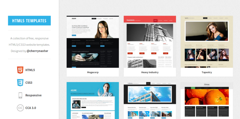 responsive website templates free download html with css - 7 resources for free html5 templates