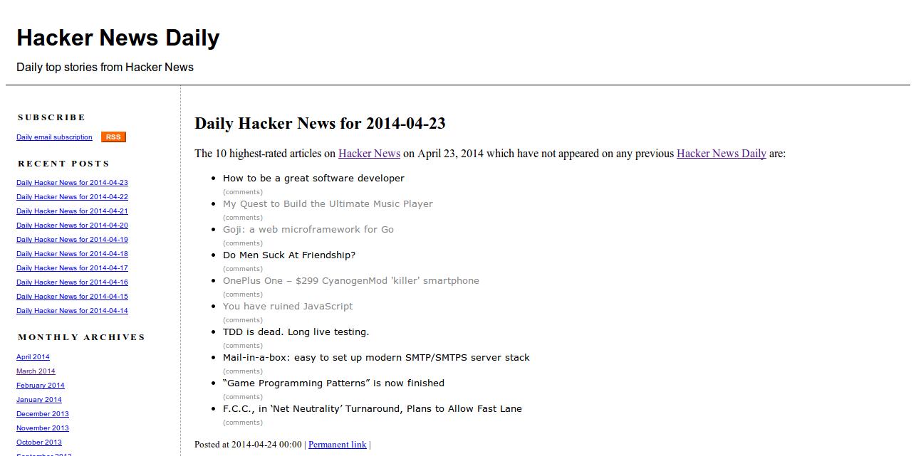 Hacker News Daily