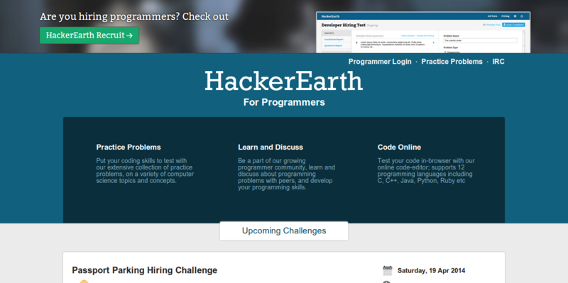 HackerEarth Coding Challenges for Programmers