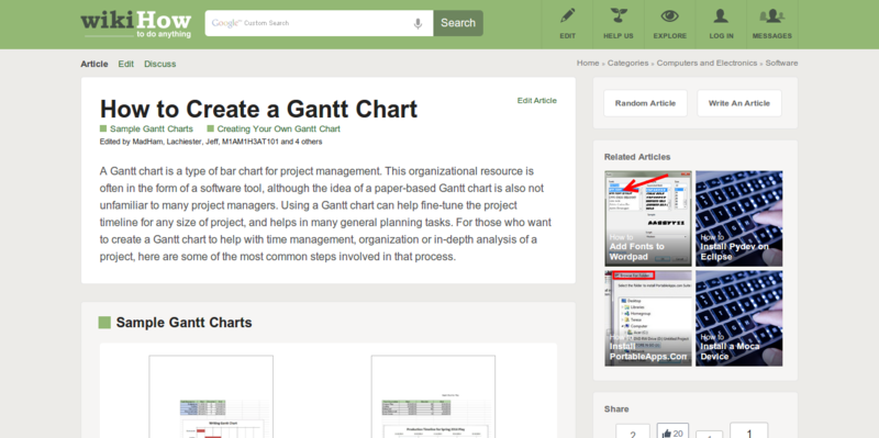 How to Create a Gantt Chart 6 Steps with Pictures wikiHow