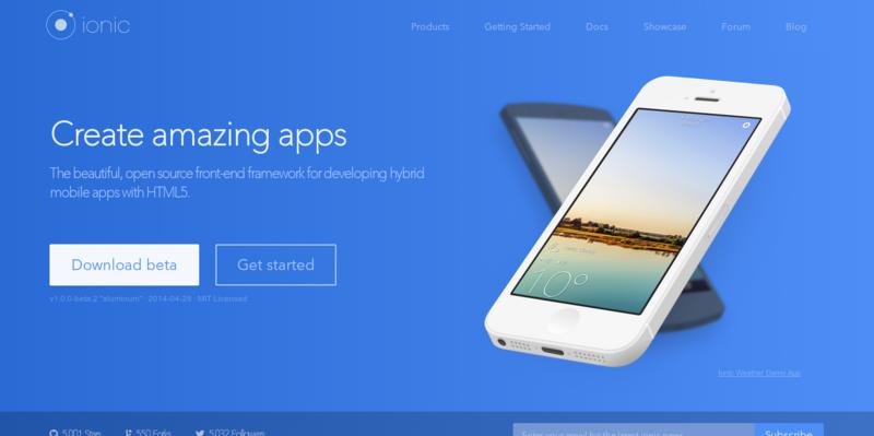 Ionic Advanced HTML5 Hybrid Mobile App Framework