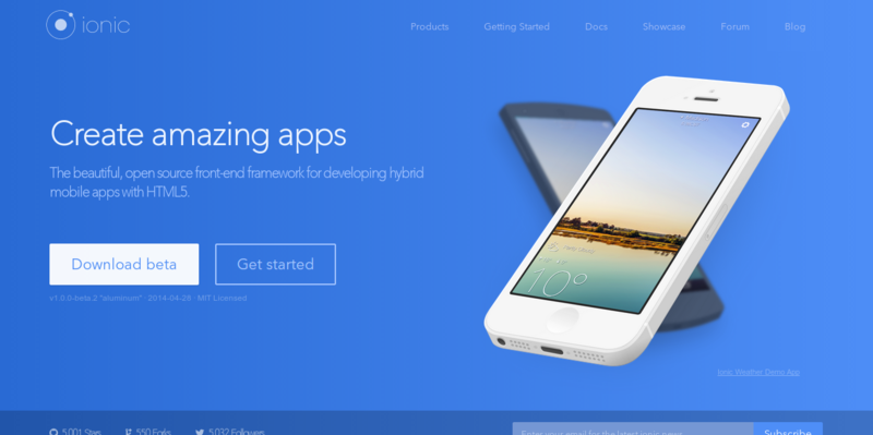 Ionic avanzada HTML5 híbrido Mobile App Framework