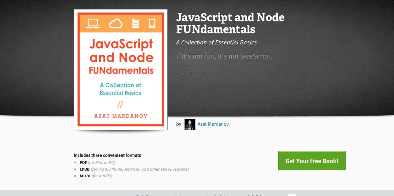 JavaScript and Node… by Azat Mardanov  Leanpub PDF iPad Kindle