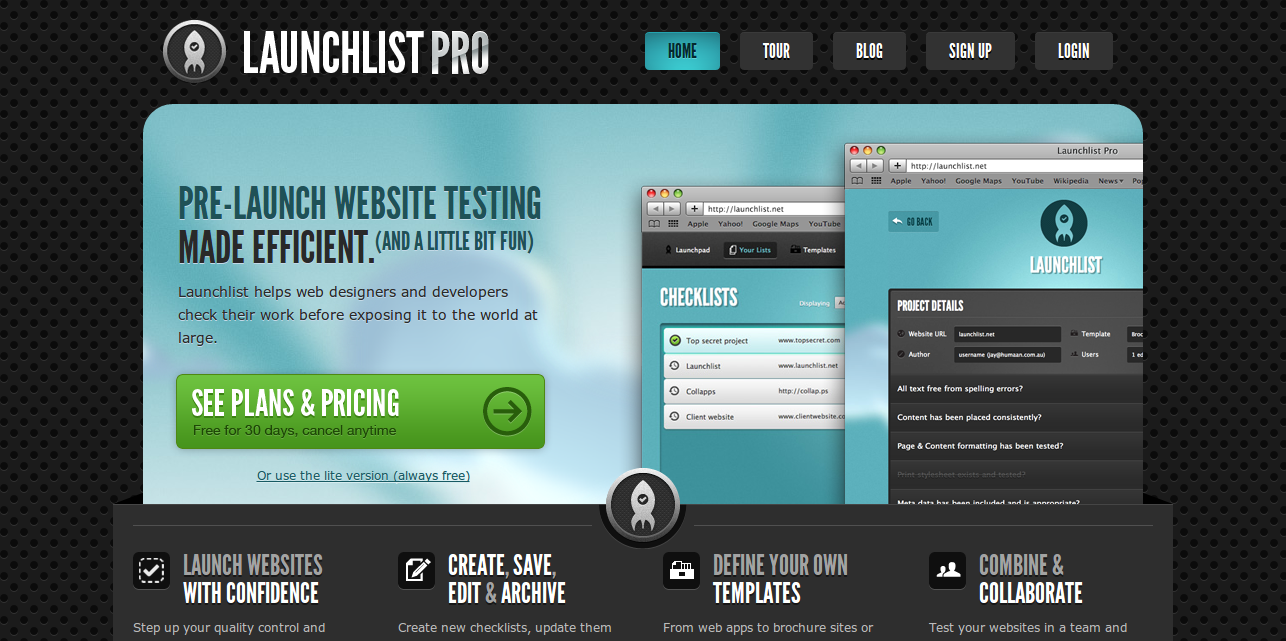 Launchlist Pro   The ultimate website checklist application.