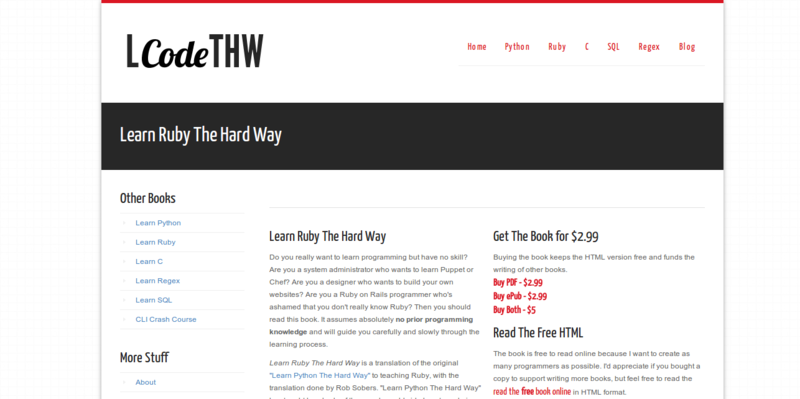 Learn Code The Hard Way Books And Courses To Learn To Code
