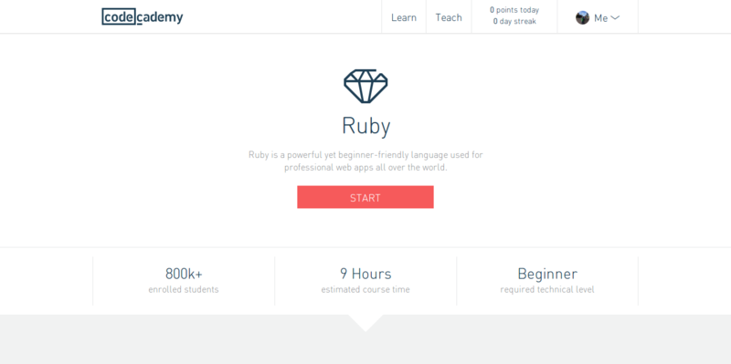 Learn Ruby at Codecademy