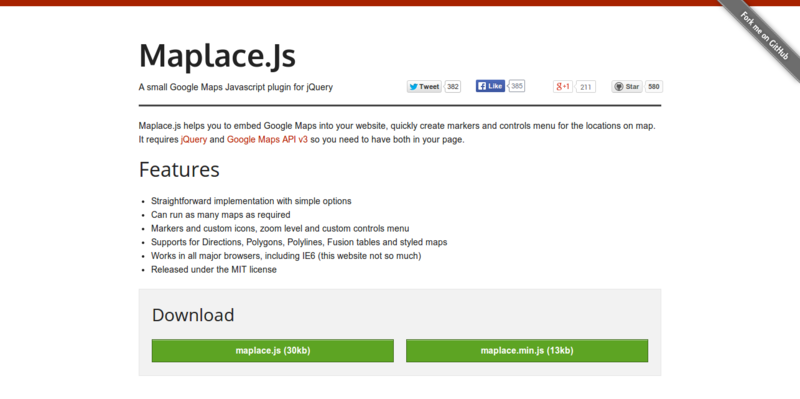 Maplace.js A small Google Maps Javascript plugin for jQuery