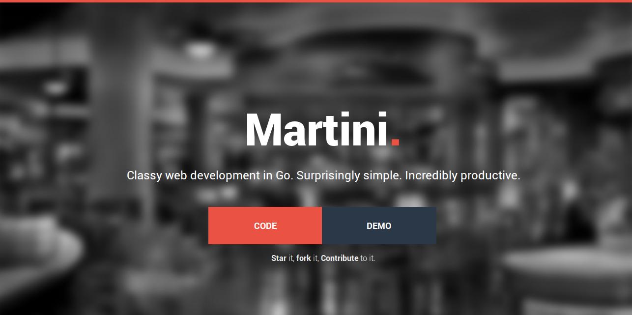 Martini Classy web development in Go.