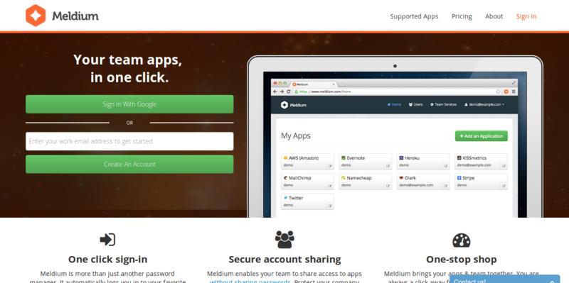 Meldium: Cloud Password & Access Manager for Teams