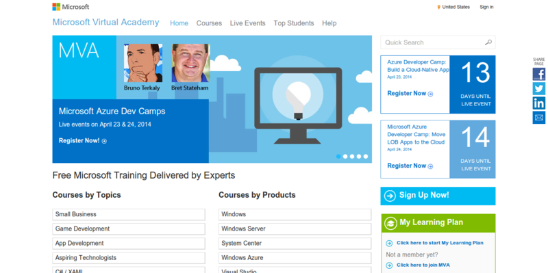 Microsoft Virtual Academy – Free IT Training Online Learning of Microsoft Technologies