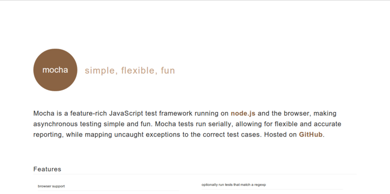 Mocha: Feature-rich JavaScript Testing Framework