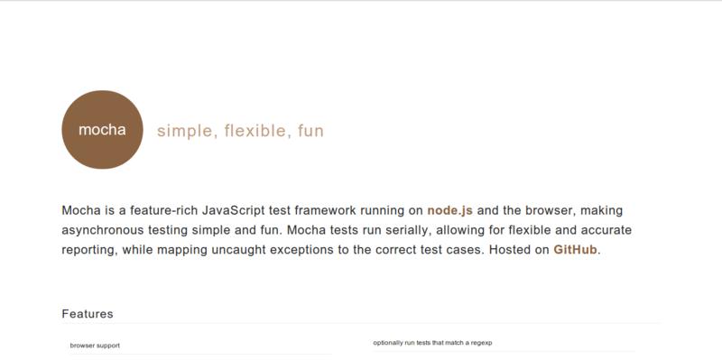Mocha: Feature-rich JavaScript Testing Framework