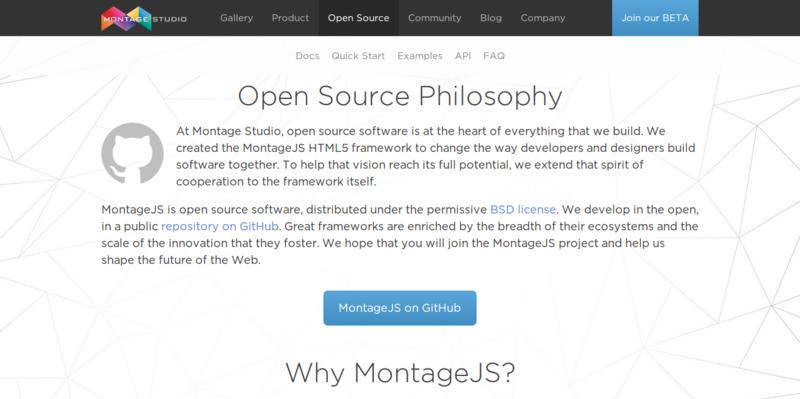 MontageJS HTML5 Framework
