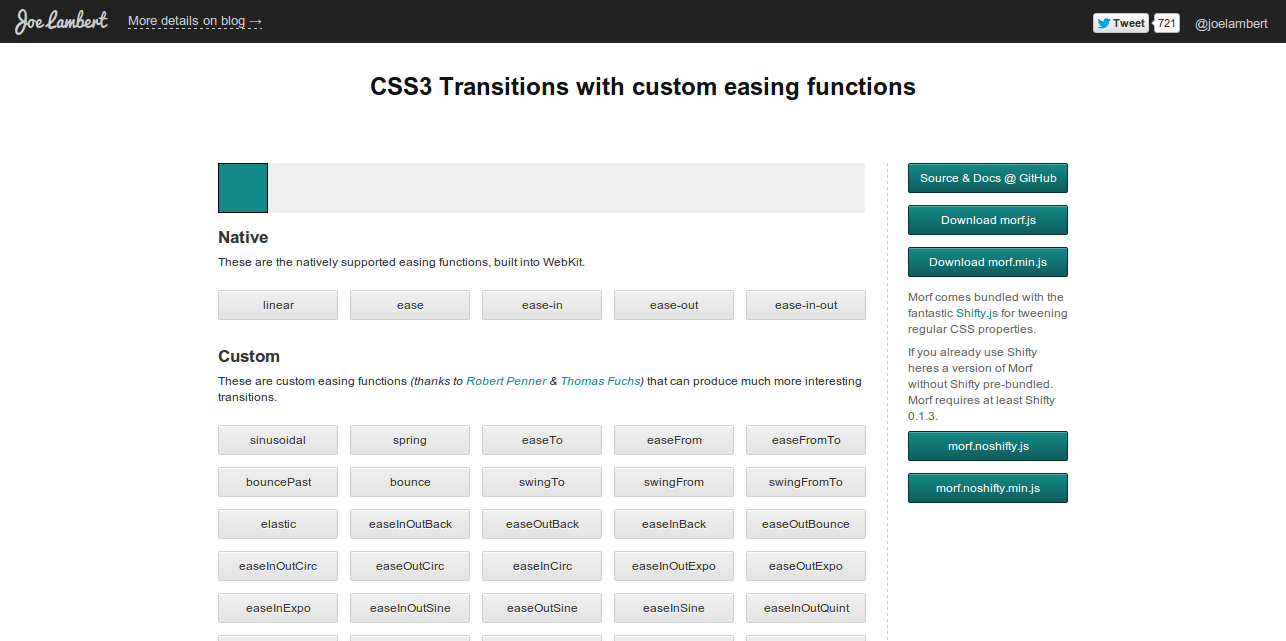 Morf.js CSS3 Transitions with custom easing functions