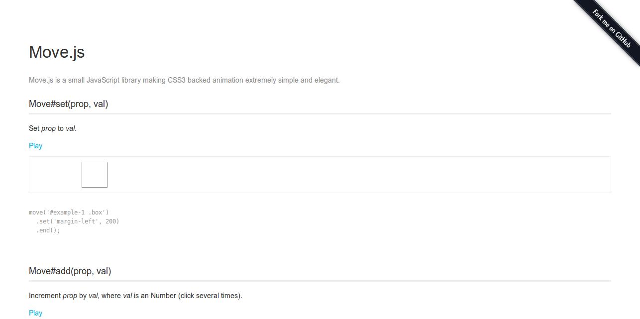 Move.js   CSS3 animation framework for JavaScript