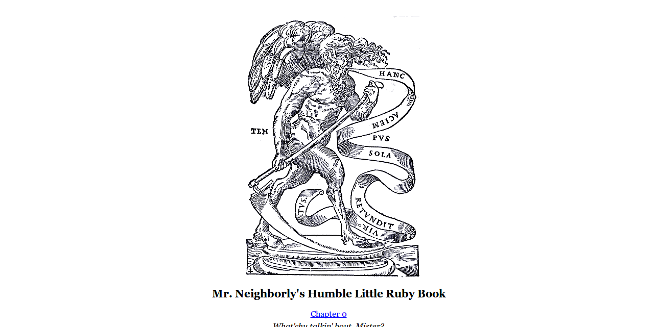 Mr. Neighborly s Humble Little Ruby Book