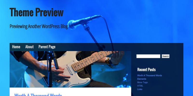 Musik - WordPress Theme