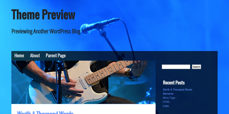 Musik - WordPress Theme
