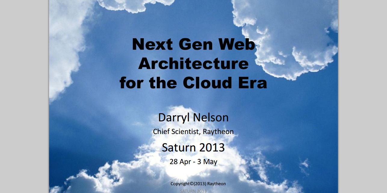 Next Gen Web Architecture for the Cloud Era