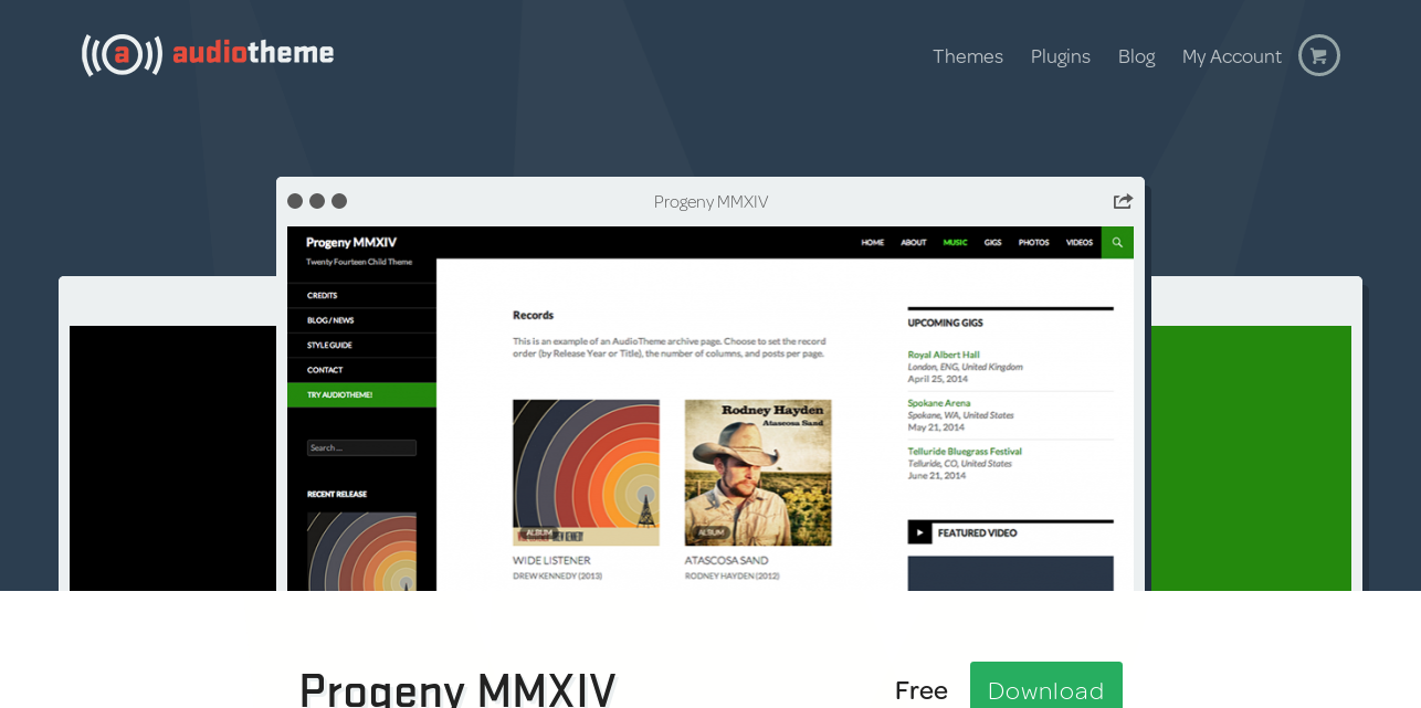 Progeny MMXIV - WordPress Theme