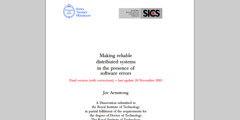 Programming Reliable Systems