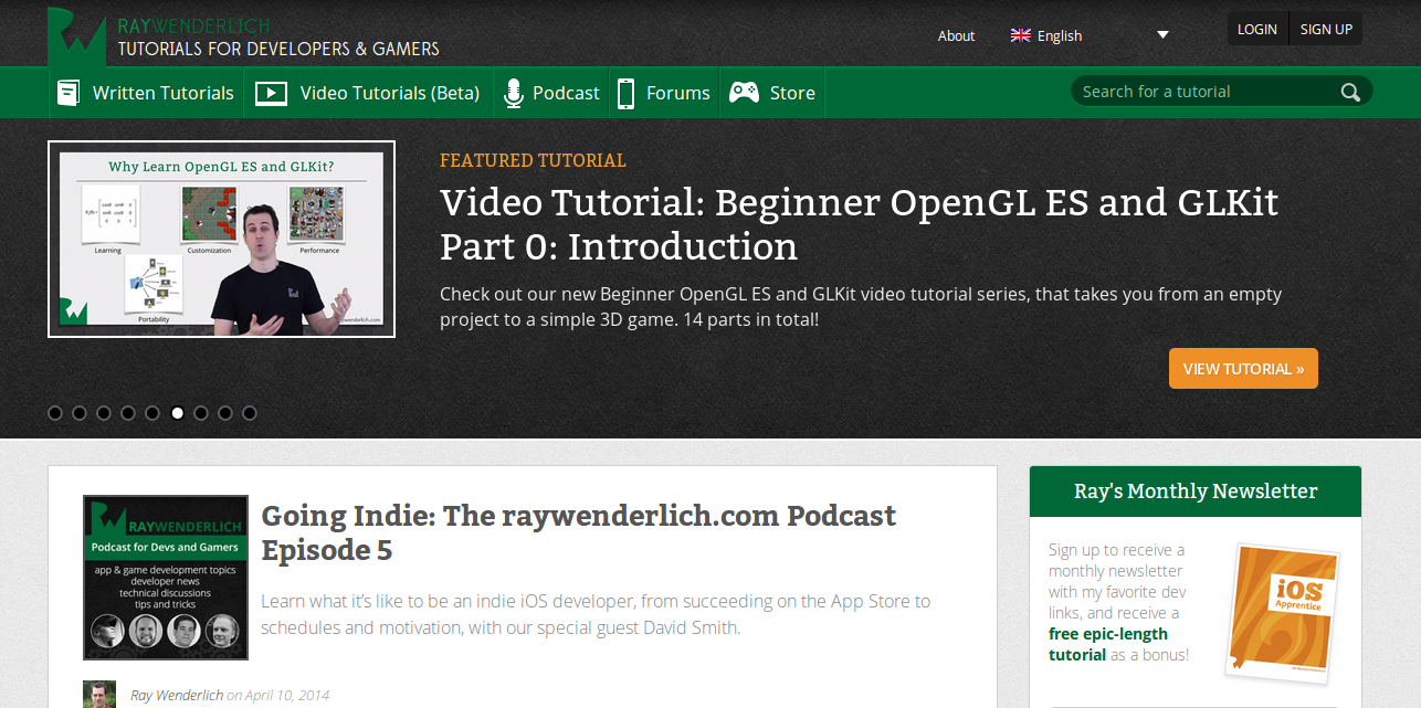 Ray Wenderlich: Tutorials for iOS Developers and Gamers