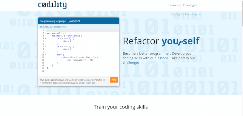 Refactor yourself. Train your programming skills Codility