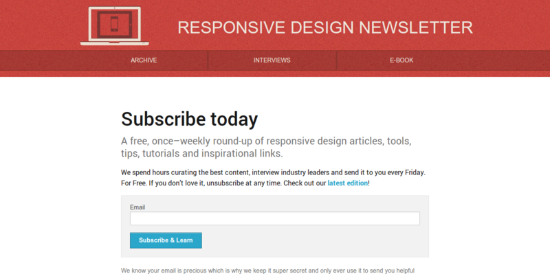 Responsive Design Newsletter