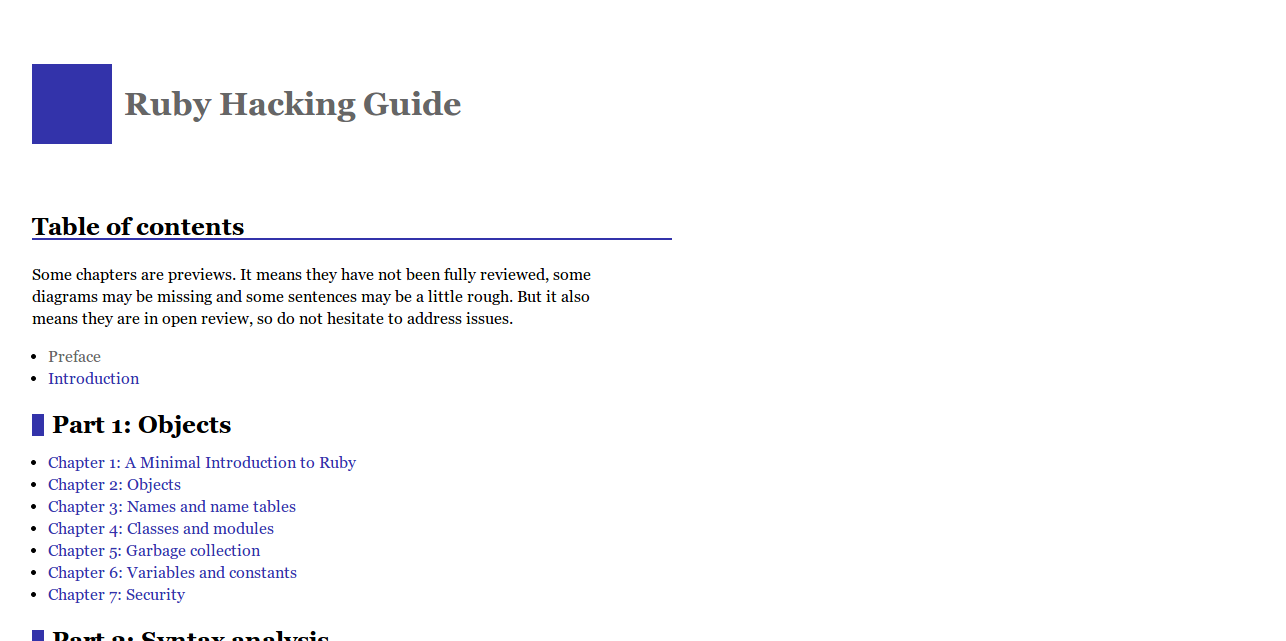 Ruby Hacking Guide