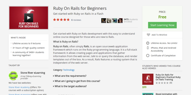 Ruby On Rails Training Course   Ruby On Rails for Beginners   Udemy