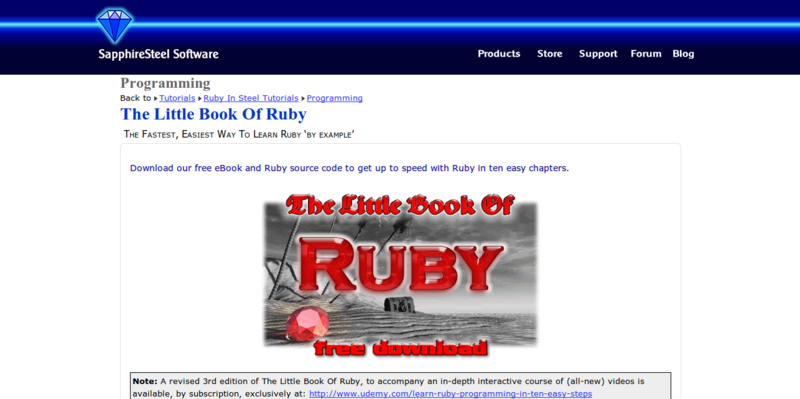 SapphireSteel Software  The Little Book Of Ruby