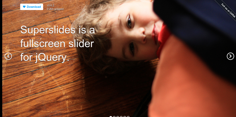 Superslides A fullscreen slider for jQuery