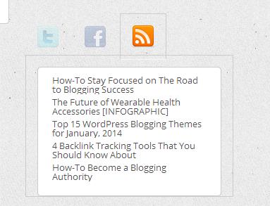 TentBlogger Social Widget