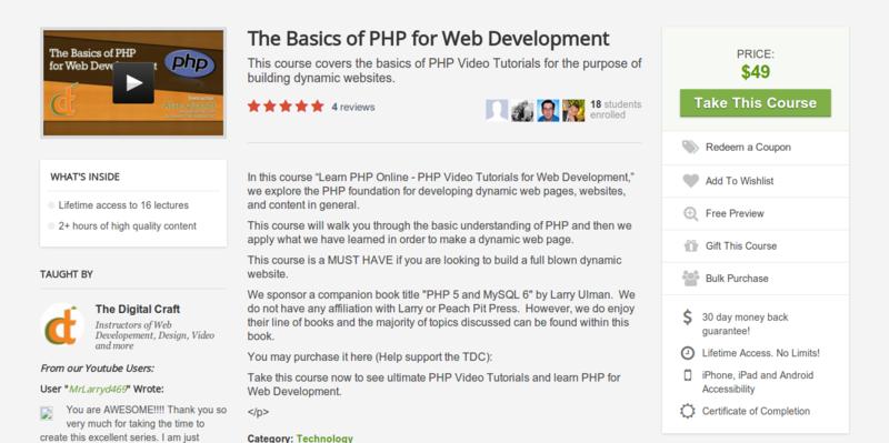 The Digital Craft: PHP Video Tutorials for Web Development