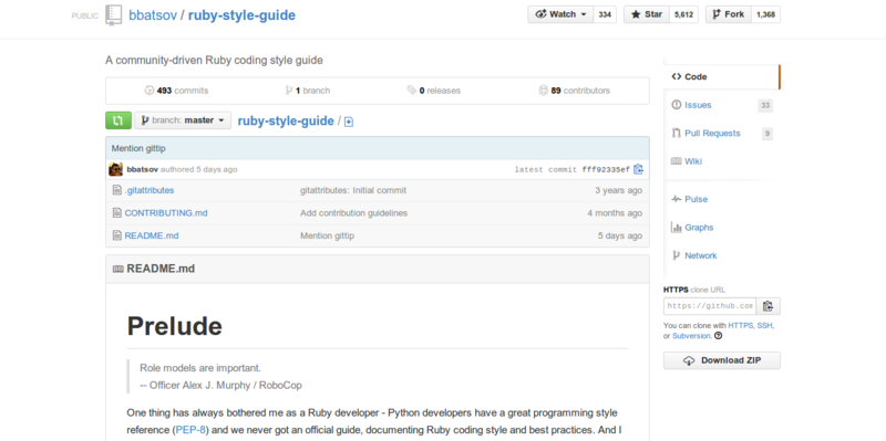 The Ruby Style Guide