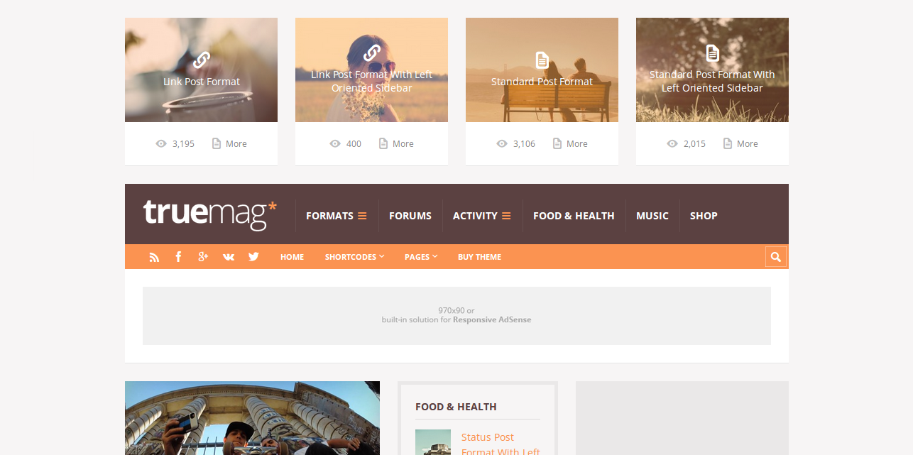 Truemag - AdSense Optimized Theme for WordPress