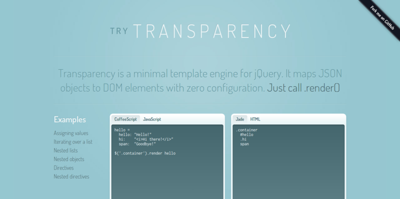 Try Transparency