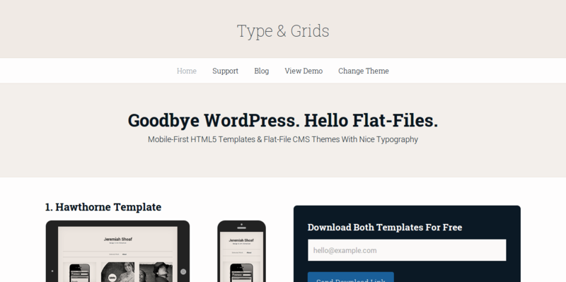 Type Grids — Mobile First HTML5 Templates Flat File CMS Themes