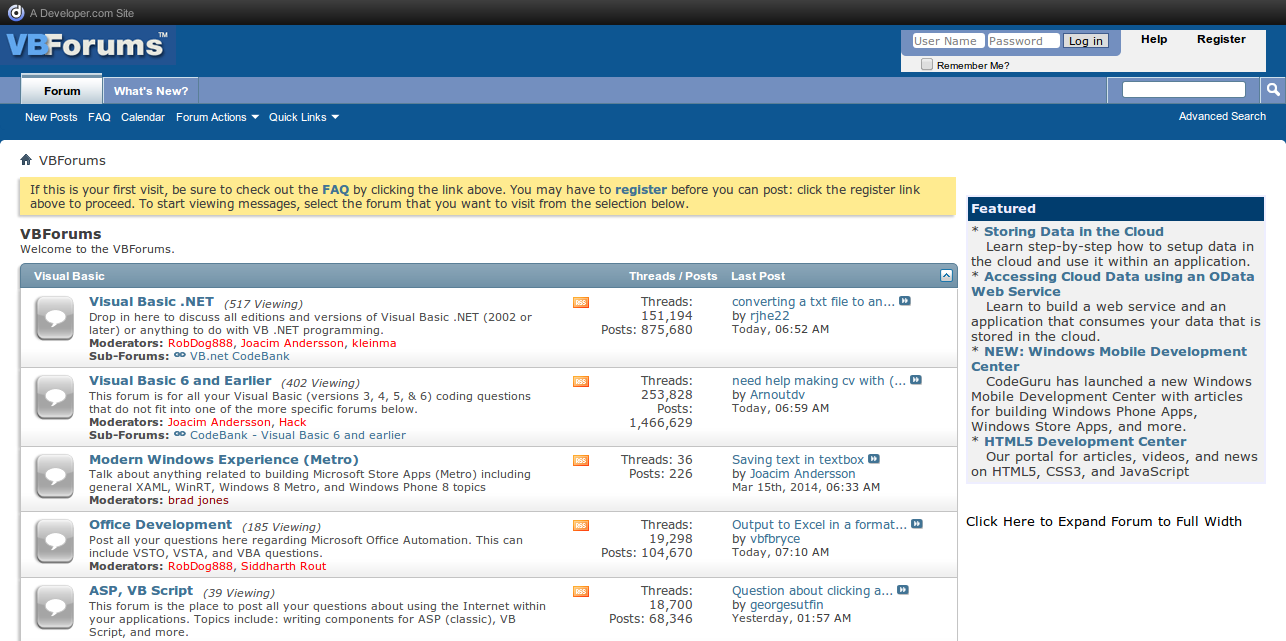 VBForums   Visual Basic and VB .NET Discussions and More
