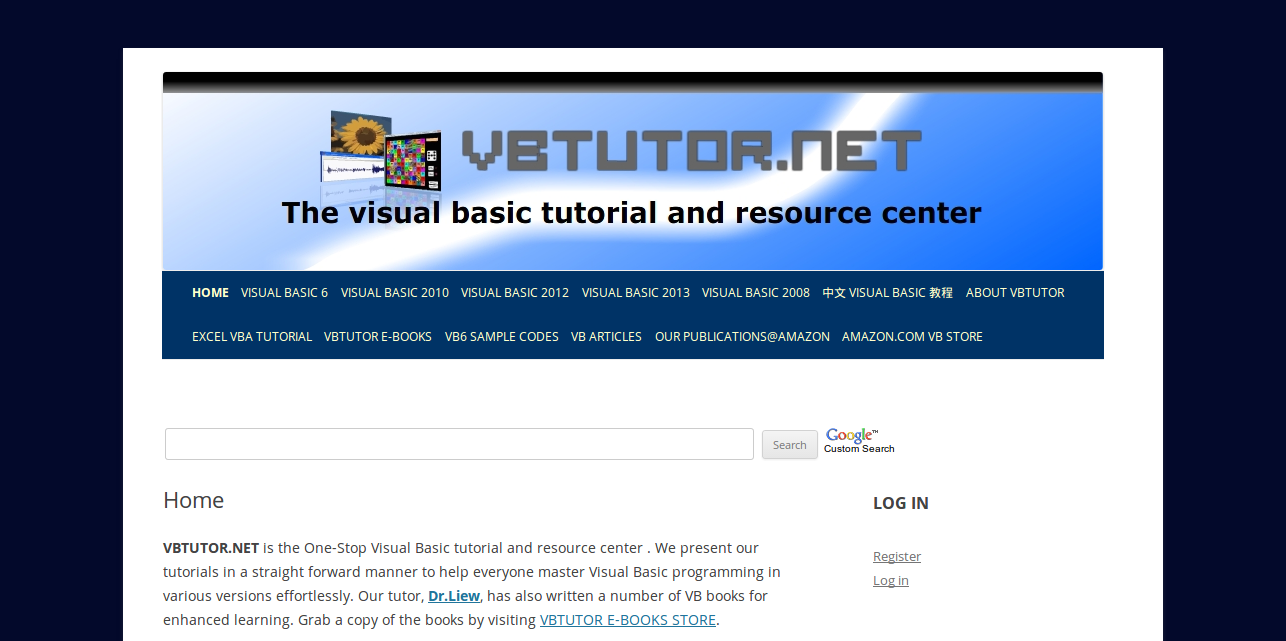 vbtutor This visual basic tutorial provides many lessons and sample codes to help  everyone learn visual basic programming effortlessly.