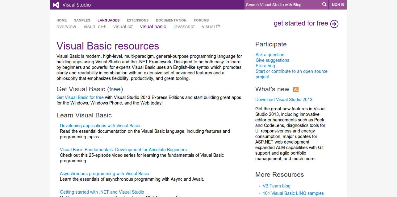 Visual Basic Resources