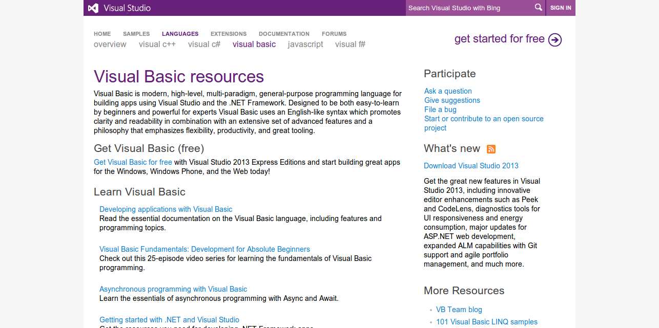 Visual Basic Resources